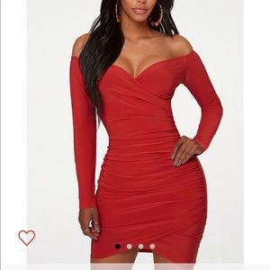 Prettylittlething Red Dress
